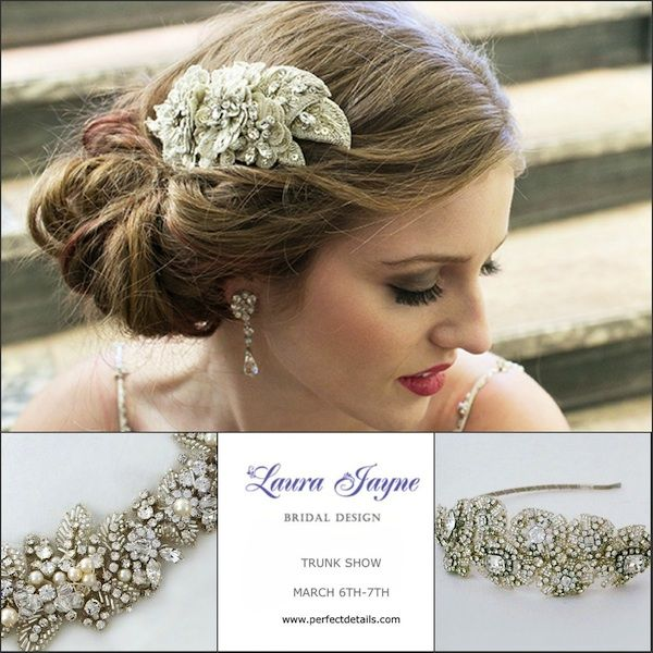 *** T R U N K * S H O W - MAR. 6-7 *** EXCLUSIVE CALIF. ENGAGEMENT   Boho chic styling, classic sparkle with a vintage vibe. The influence of Mother Nature is ever so present in this bridal hair accessory collection of soft floral hair combs, delicate sparkling hair vines, headbands and hair clips and there is jewelry and sashes too!  https://perfectdetails.com/laura-jayne-hair-jewelry.htm