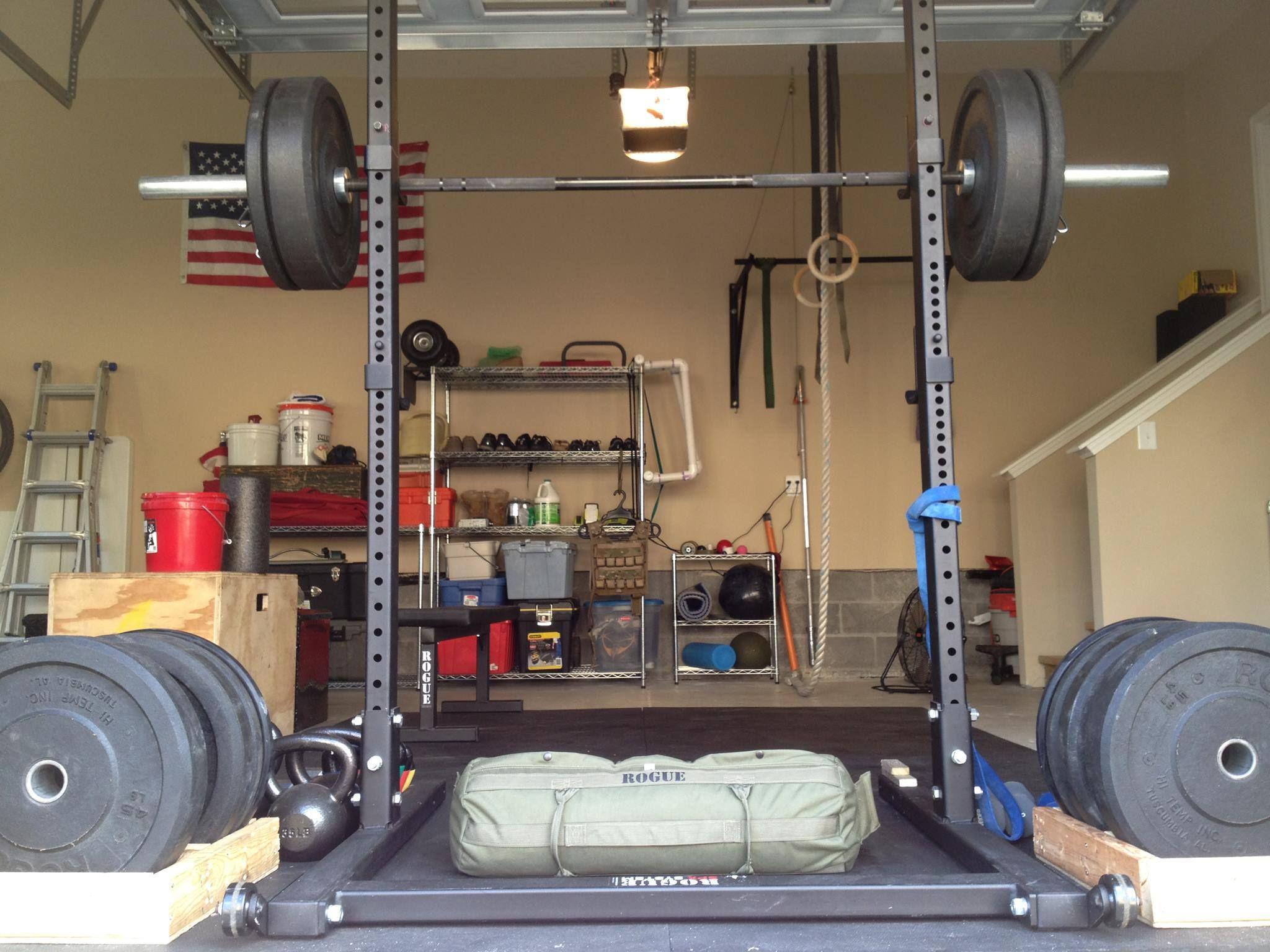 Garage gym health and fitness pinterest