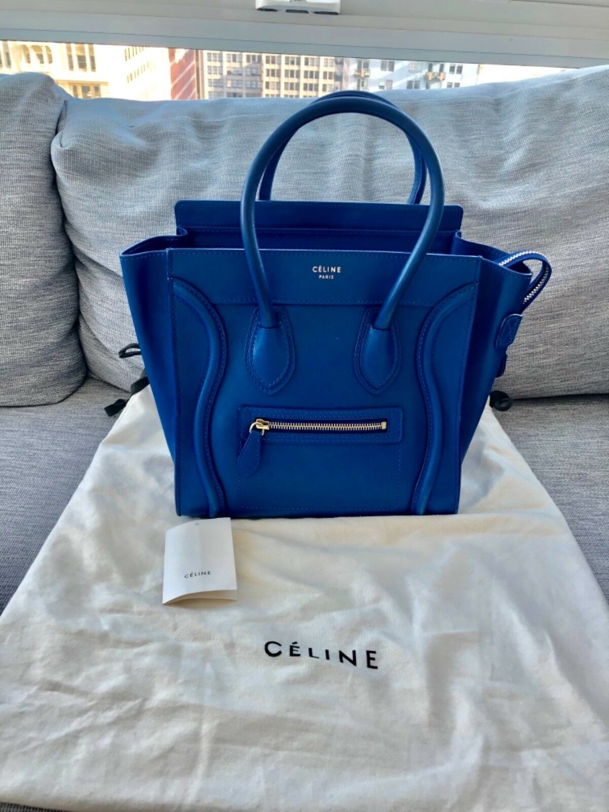 7bf675c78f9f Details about Preowned 100% Authentic Celine Mini Luggage Leather ...