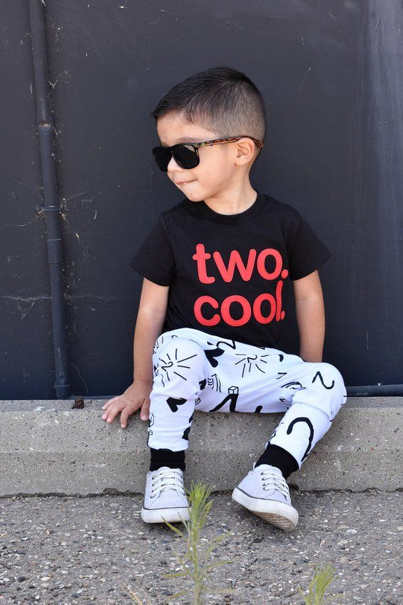 Birthday Shirt AND Pants Toddler Baby Boy Girl Two Cool 2 Year Old Outfit M