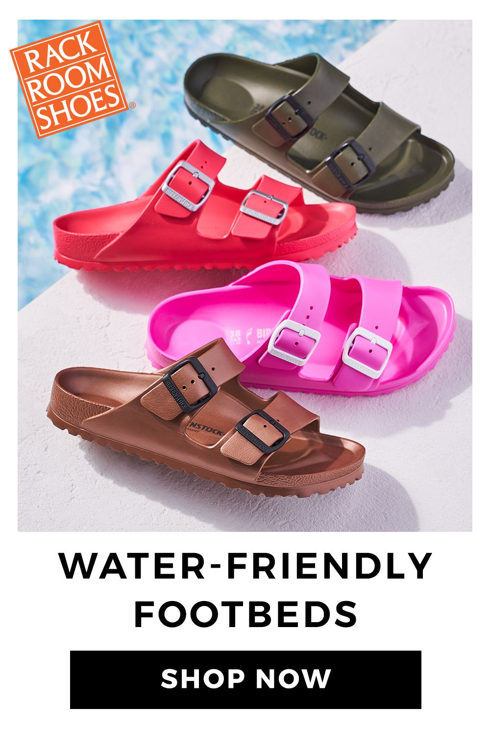6f1b64093 Splash into Summer with sandals perfect for the pool. Available at Rack  Room Shoes.