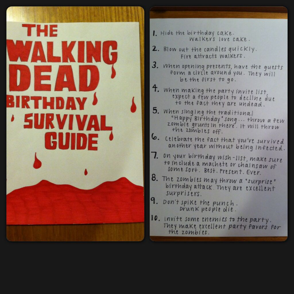 Birthday card i made my brother in honor of our favorite show birthday card i made my brother in honor of our favorite show walking dead m4hsunfo
