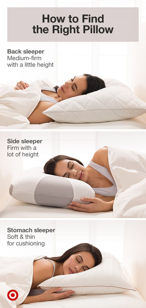 Match Your Sleep Style With The Right Bedroom Pillow From Fluffy To Firm Pick A Pillow For Ideal Neck Sup Bedroom Pillows Bedroom Pillows Arrangement Pillows