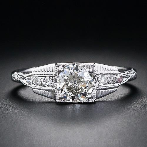 .62 Carat Art Deco Diamond Engagement Ring