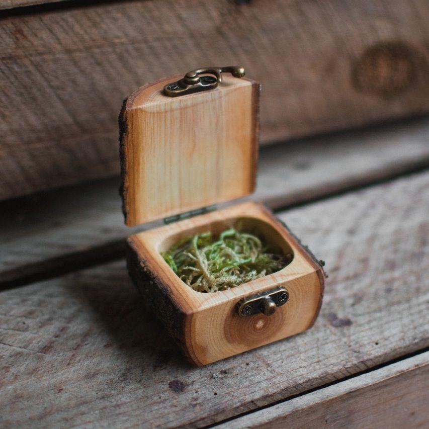 Natural Log Ring Box Woodworking projects diy, Diy