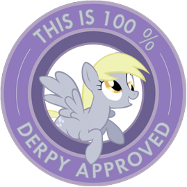 "My Little Pony Friendship is Magic ""This is 100% Derpy Hooves Approved"" sticker by ~Ambris on deviantART.  <3 Derpy!  #derpyhooves"
