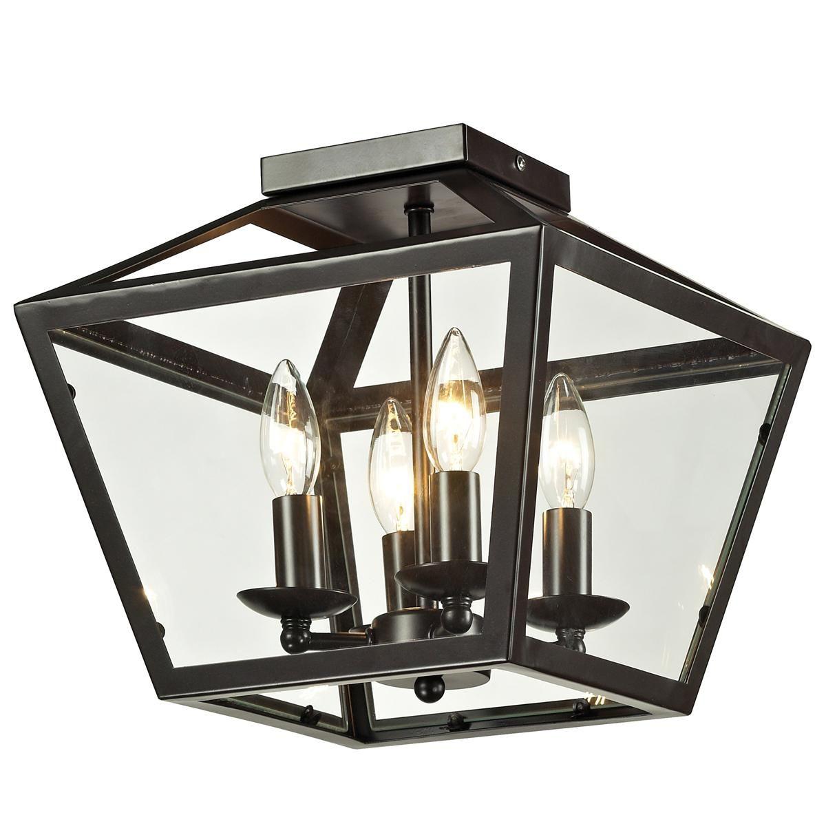 Trapezoid Glass Flush Mount Ceiling Lantern Flush Ceiling Lights Flush Mount Lighting Flush Mount Ceiling Lights