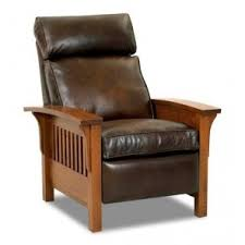 Highland Recliner Leather Recliner Chair Mission Style Furniture Leather Recliner