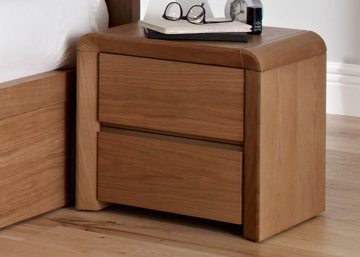 Bedroom stylish bedside table ideas with charming wooden bedside bedroom stylish bedside table ideas with charming wooden bedside table and cool two drawers also beautiful bright brown laminate flooring for classic watchthetrailerfo