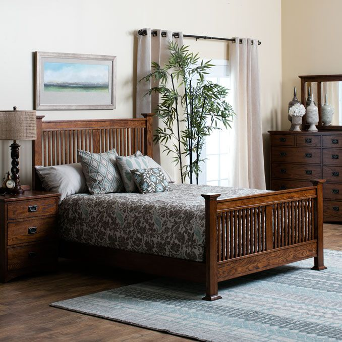 Timeless And Casual The Oak Park Mission Style Bedroom Collection By Jerome S Beds Łóżka Pinterest Bedrooms