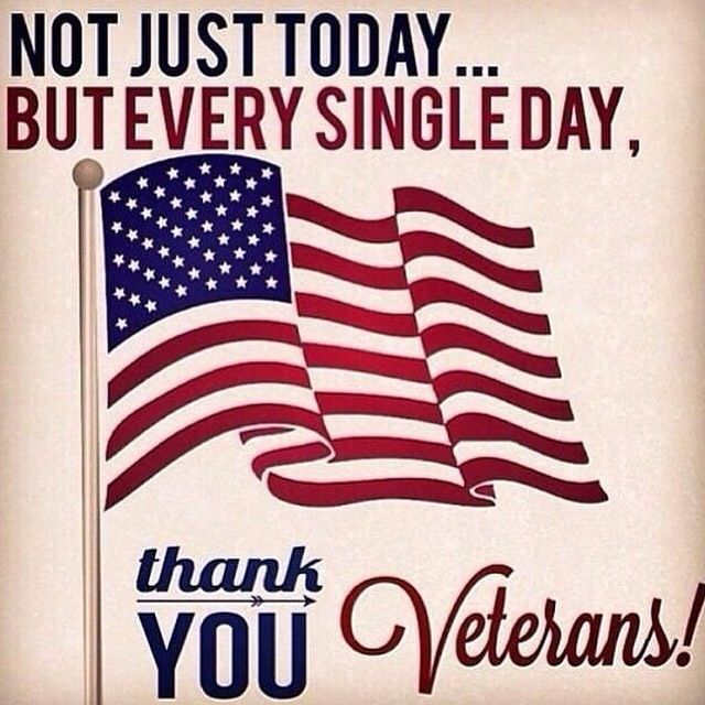 Not just today, but everyday thank you veterans ...
