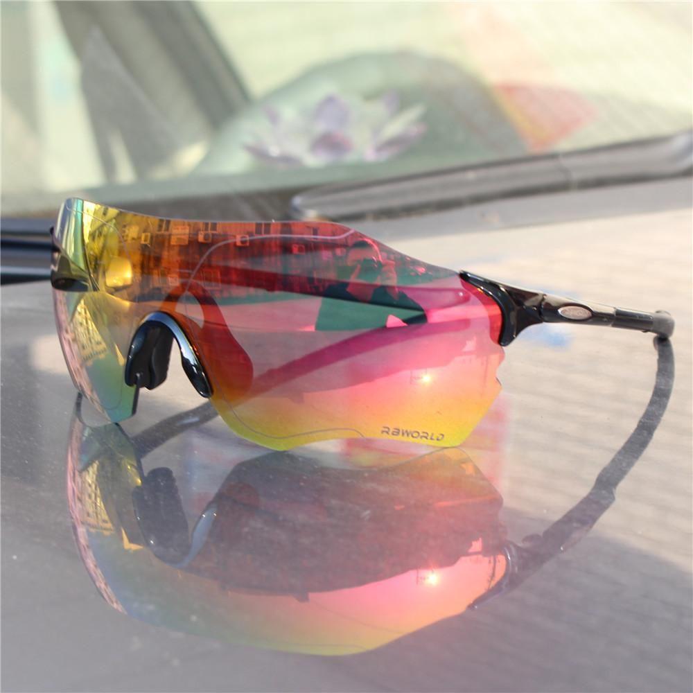 ff78304c44 EV Evzero FUll red Lens Polarized TR90 Sports Cycling Glasses Men MTB  Mountain Road Bike Bicycle