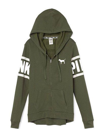 4eddc180dad03 Perfect Full-Zip Hoodie - PINK - Victoria's Secret | Sweaters ...