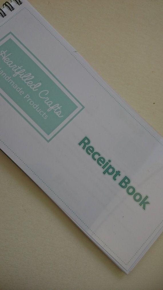 business receipt book customer receipts craft fair market seller