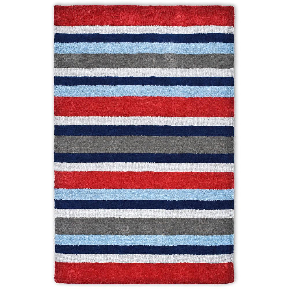 Twickenham Stripe Rug - Huckleberry Cabin Bed Boys\' Bedroom - Create ...