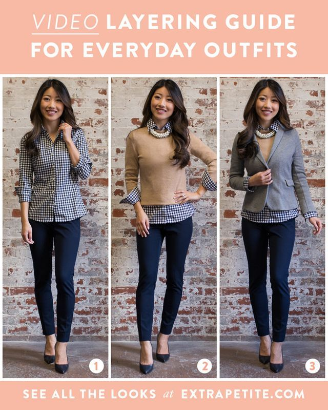 7e1c326af6 Video  How to layer + build everyday outfits (Extra Petite)