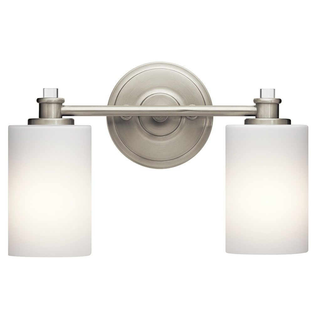 Kichler Lighting Joelson Collection 2Light Brushed Nickel Led Interesting Brushed Nickel Bathroom Accessories Inspiration