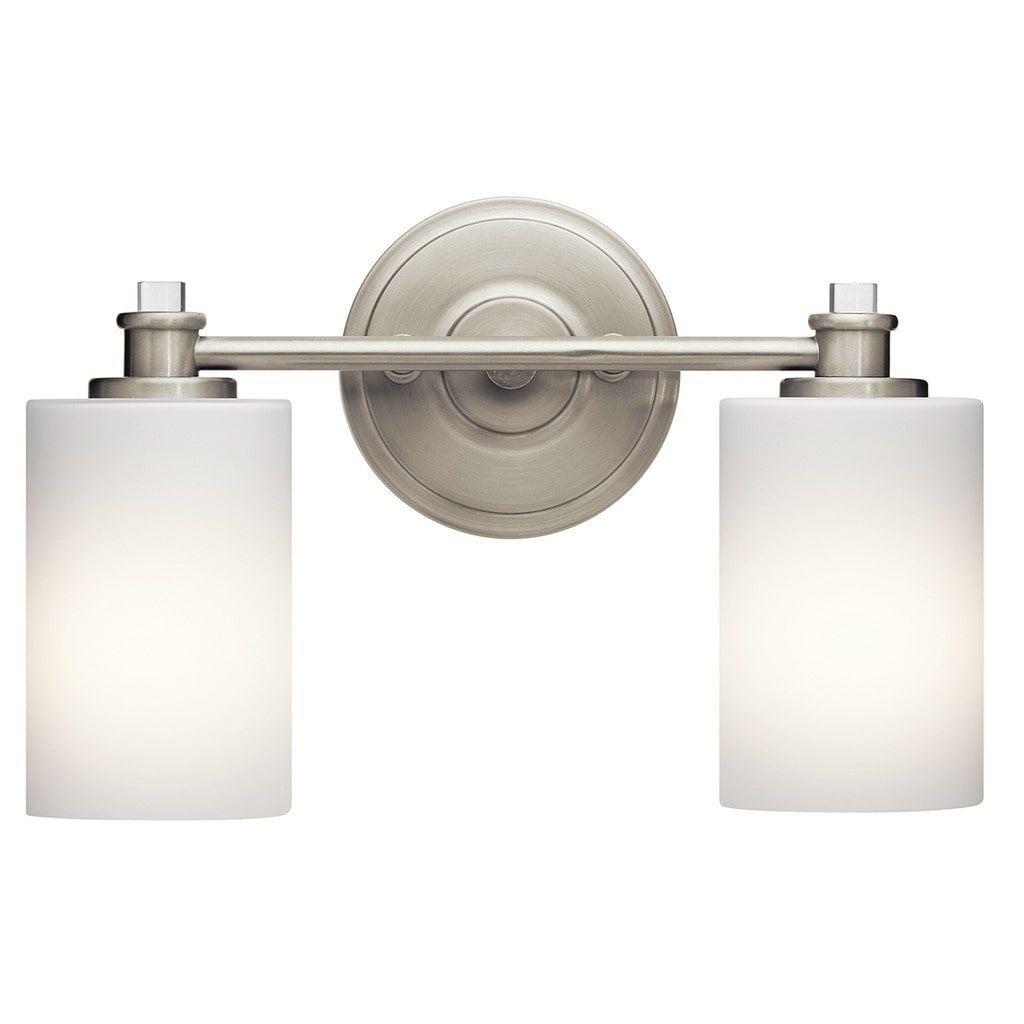 Kichler Lighting Joelson Collection 2Light Brushed Nickel Led Interesting Brushed Nickel Bathroom Accessories Inspiration