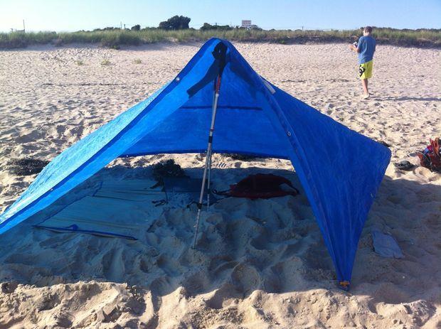 Trekking Pole Blue Tarp Tent & Trekking Pole Blue Tarp Tent | Tents