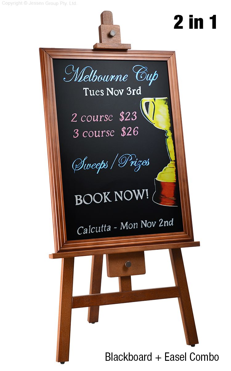 Easel And Chalkboard Chalkboard Coffee Shop Menu Board Easel