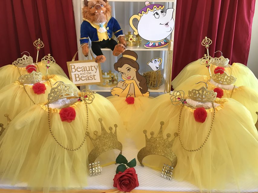 Princess Belle Party Decorations Discount Princess Birthday Party Suppliesboutique Party Favors