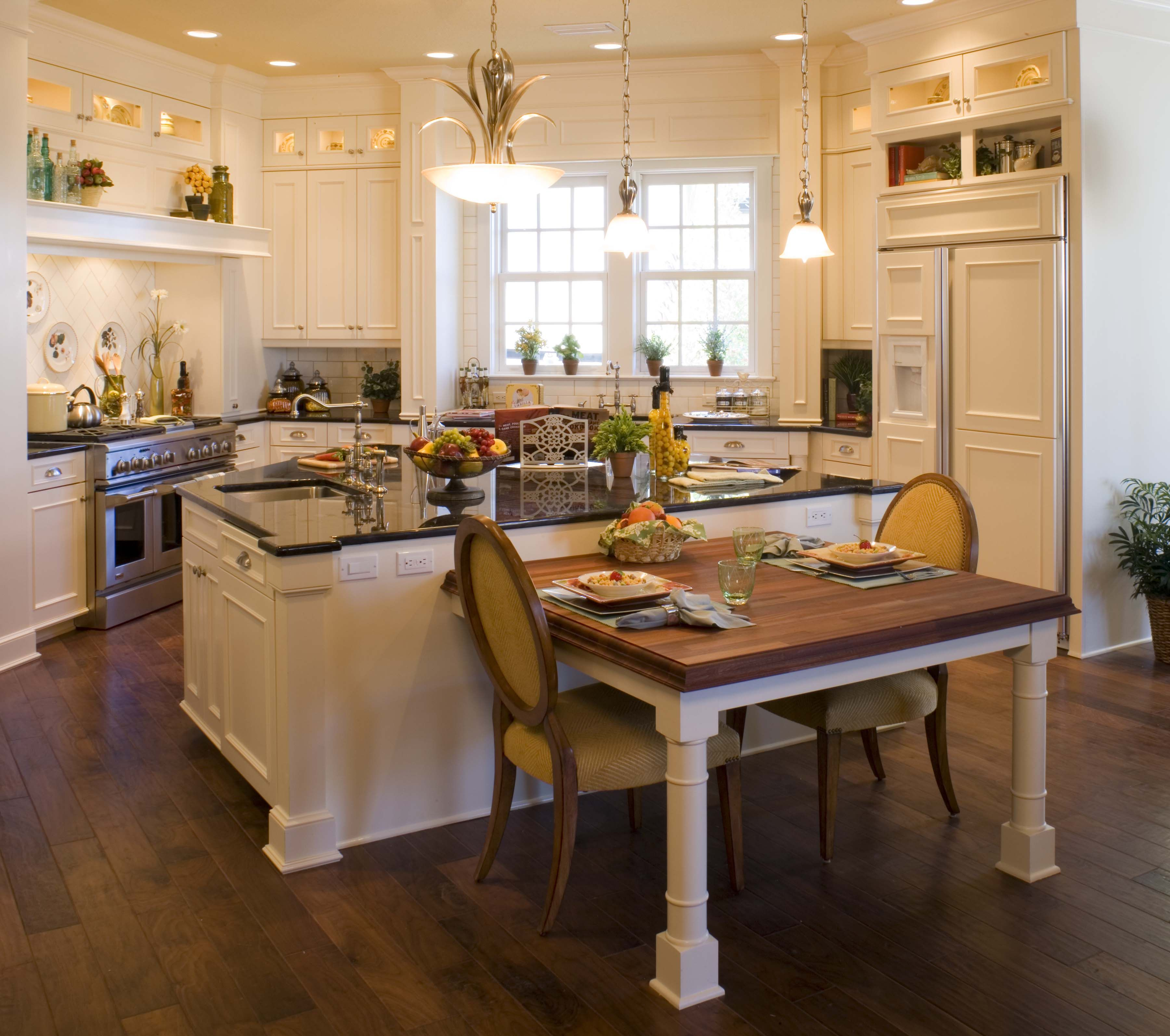 Kitchen Update With Brookhaven Island Desk: Peregrine Homes Designed This Kitchen To Have An Old
