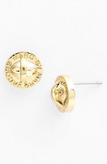 d756e8fc4a1d8 MARC BY MARC JACOBS  Turnlock  Large Stud Earrings (Nordstrom Exclusive)  available at  Nordstrom super cute studs!