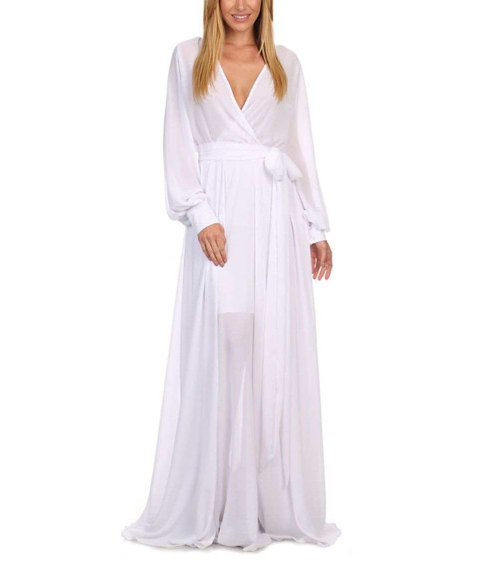Another great find on zulily white wrap maxi dress women by