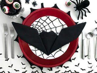 Bat Napkin Folding #diynapkinfolding
