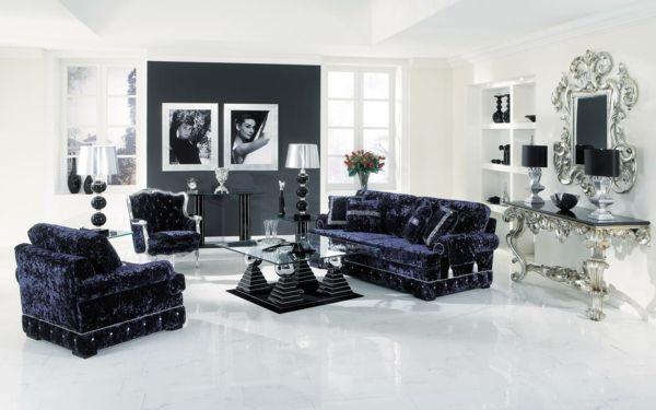 wohnzimmer-mit-barock-sesseln Einrichtung Pinterest Sessel