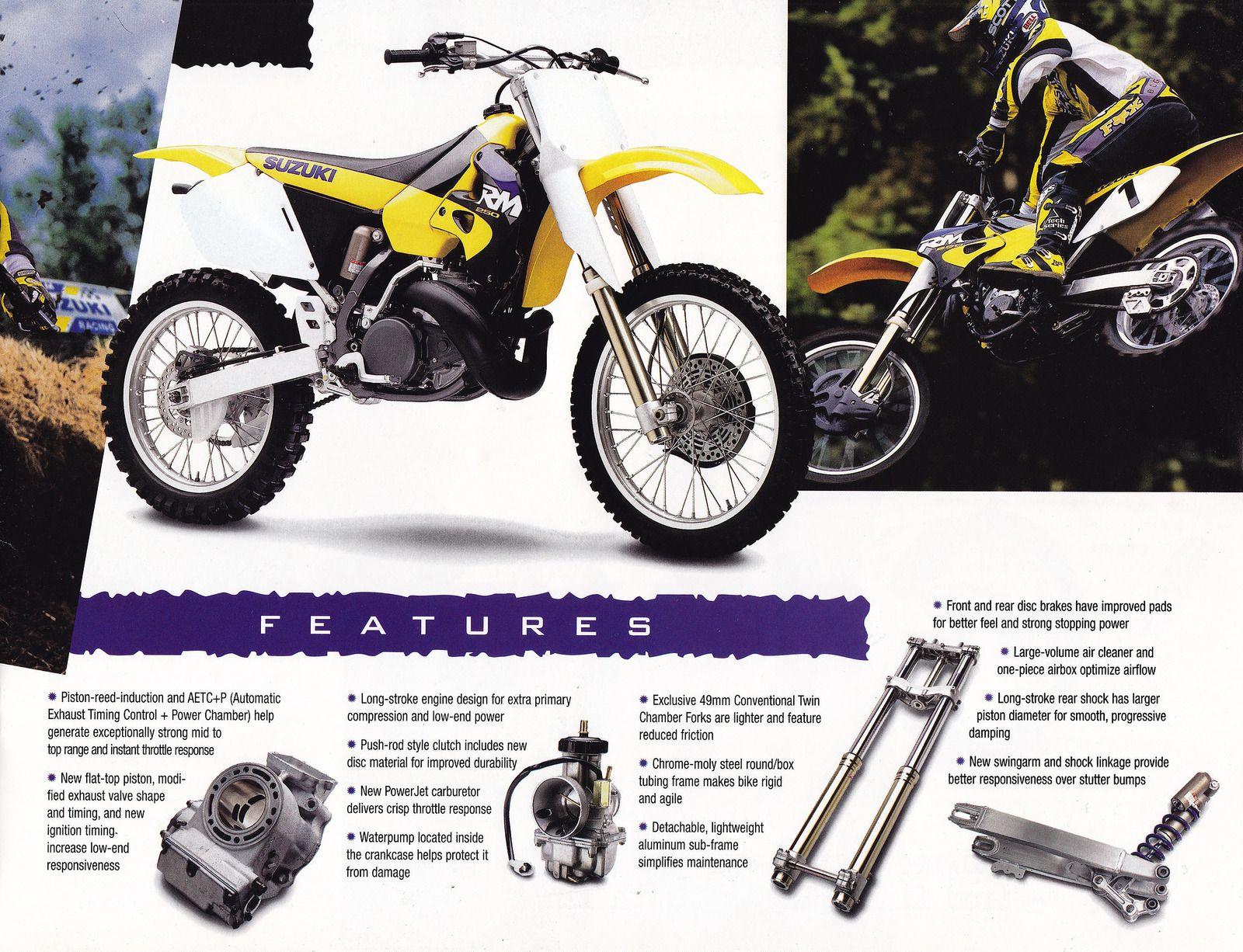 1998 Suzuki RM and RMX Brochure Page 3 | Vintage dirt bikes | Dirt ...
