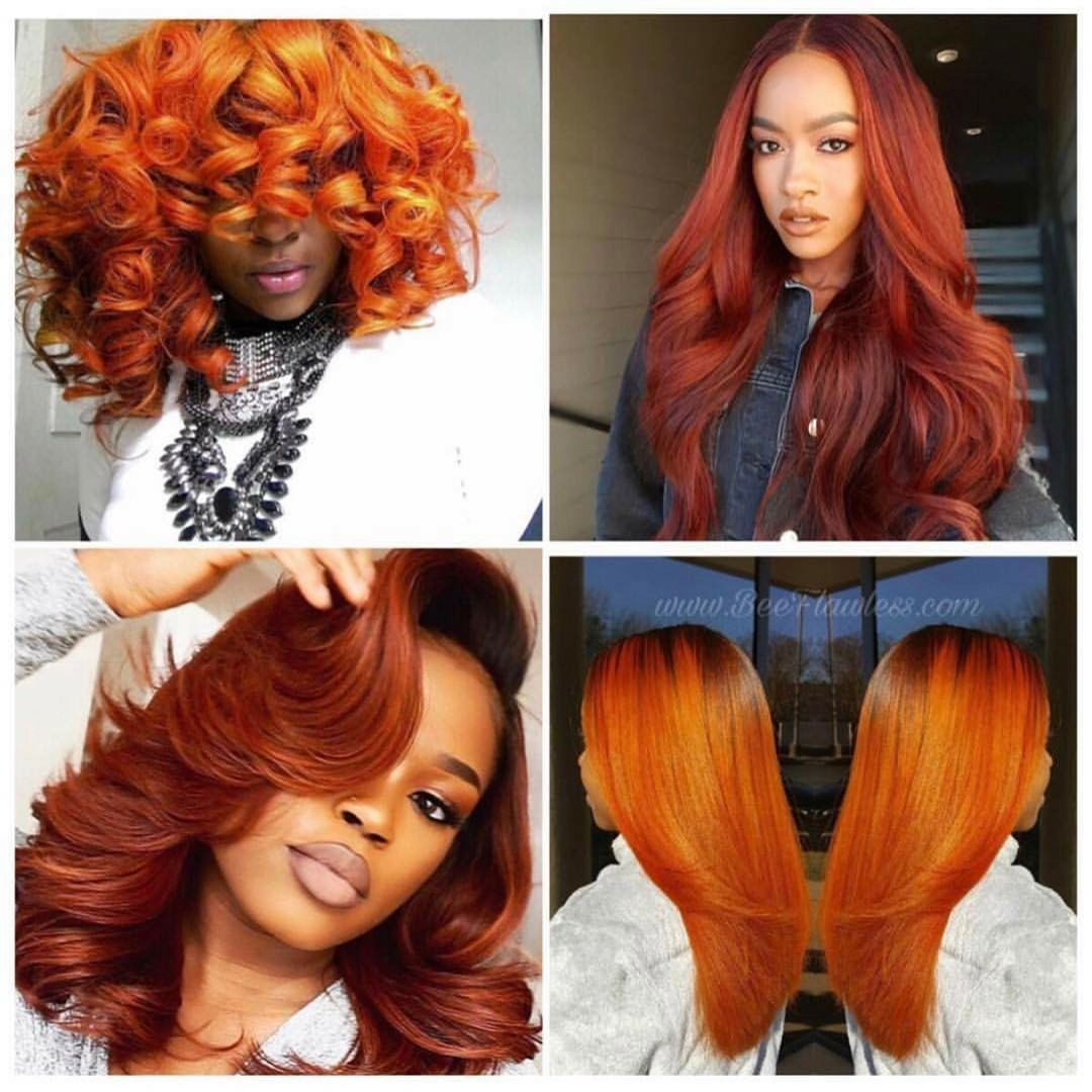 Orange red hair   Hair color orange, Hair color for black hair ...