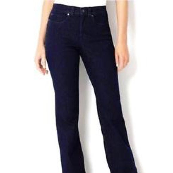 Charter Club Bootcut jeans Charter Club 2P regular curvy Bootcut jeans in black blue. Tummy slimming! New with tags! Charter Club Jeans Boot Cut