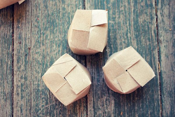 Recycle toilet rolls to create little pots for planting for Recycling toilet paper tubes