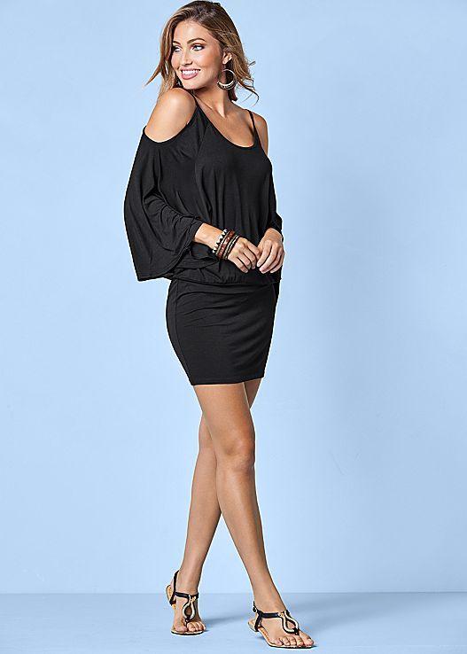 468d03d6a33 Venus cold shoulder dress with Venus snake detail sandal.