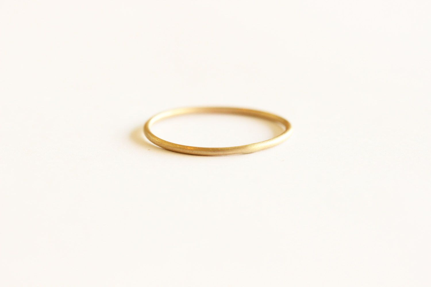 Yellow Gold Plain Round Wedding Band,14k Solid Gold Wire Band ...