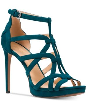 ef68acfdb53 Michael Michael Kors Sandra Platform Caged Dress Sandals - Blue 9.5M ...