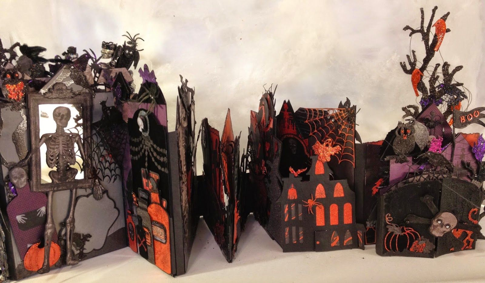 Recollections spooky castle Halloween mini album | annes ...