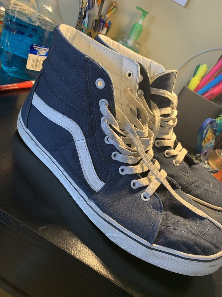 a1f37cc67e11 High Top Dark Blue Vans SIZE 13 MENS  fashion  clothing  shoes  accessories