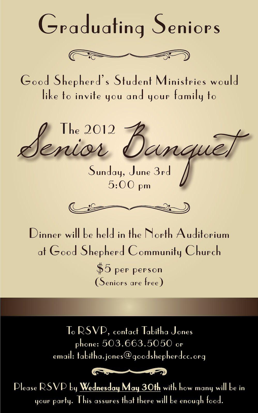 banquet invitation templates