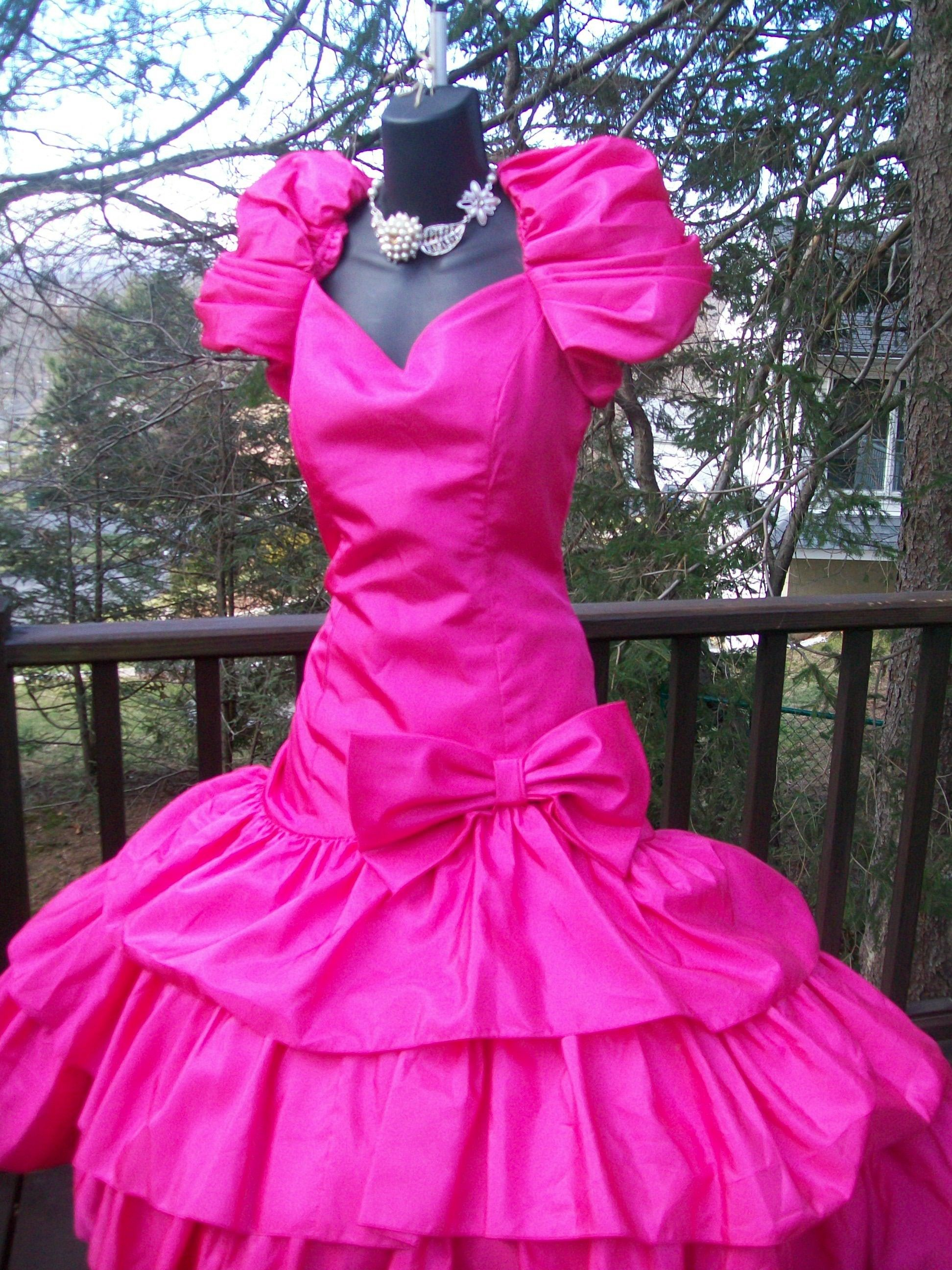 80s PINK PROM PARTY DRESS THIS ONE JUST SOLD BUT I HAVE ...