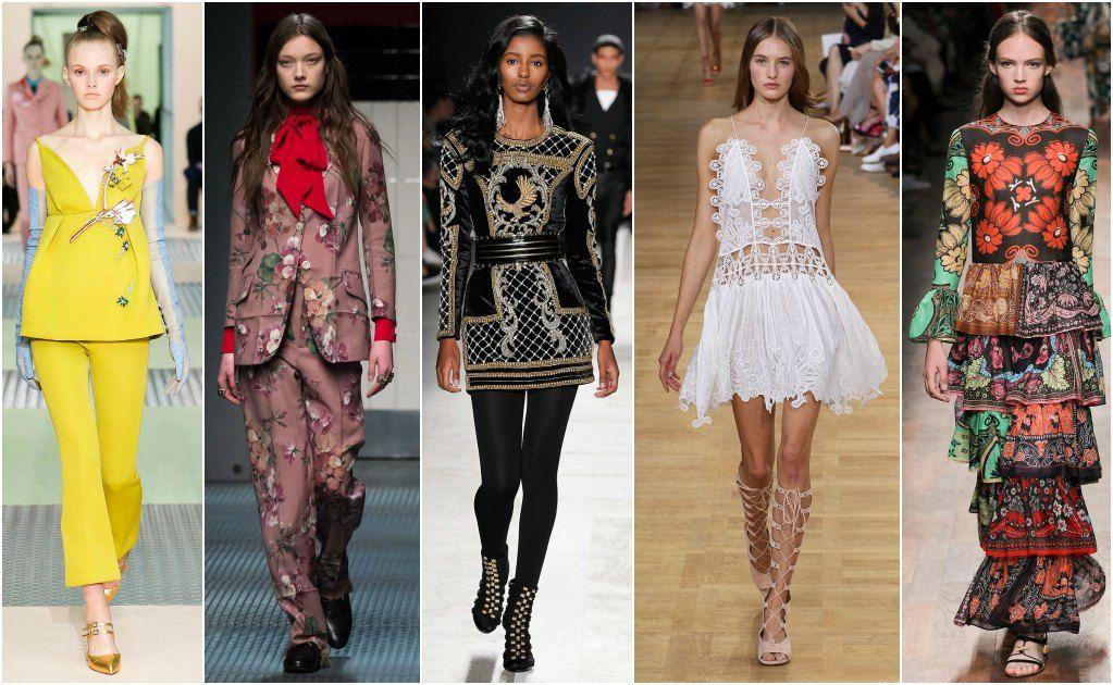 Valentino, Chanel, Christian Dior, Lanvin, y Balmain son algunos de los nombres que más destacaron