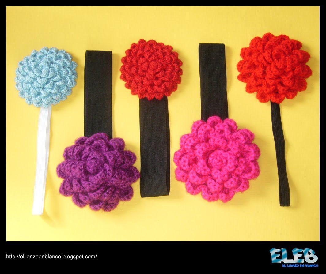 El Lienzo en Blanco: Dahlia Flower Crochet / Dalia de Ganchillo
