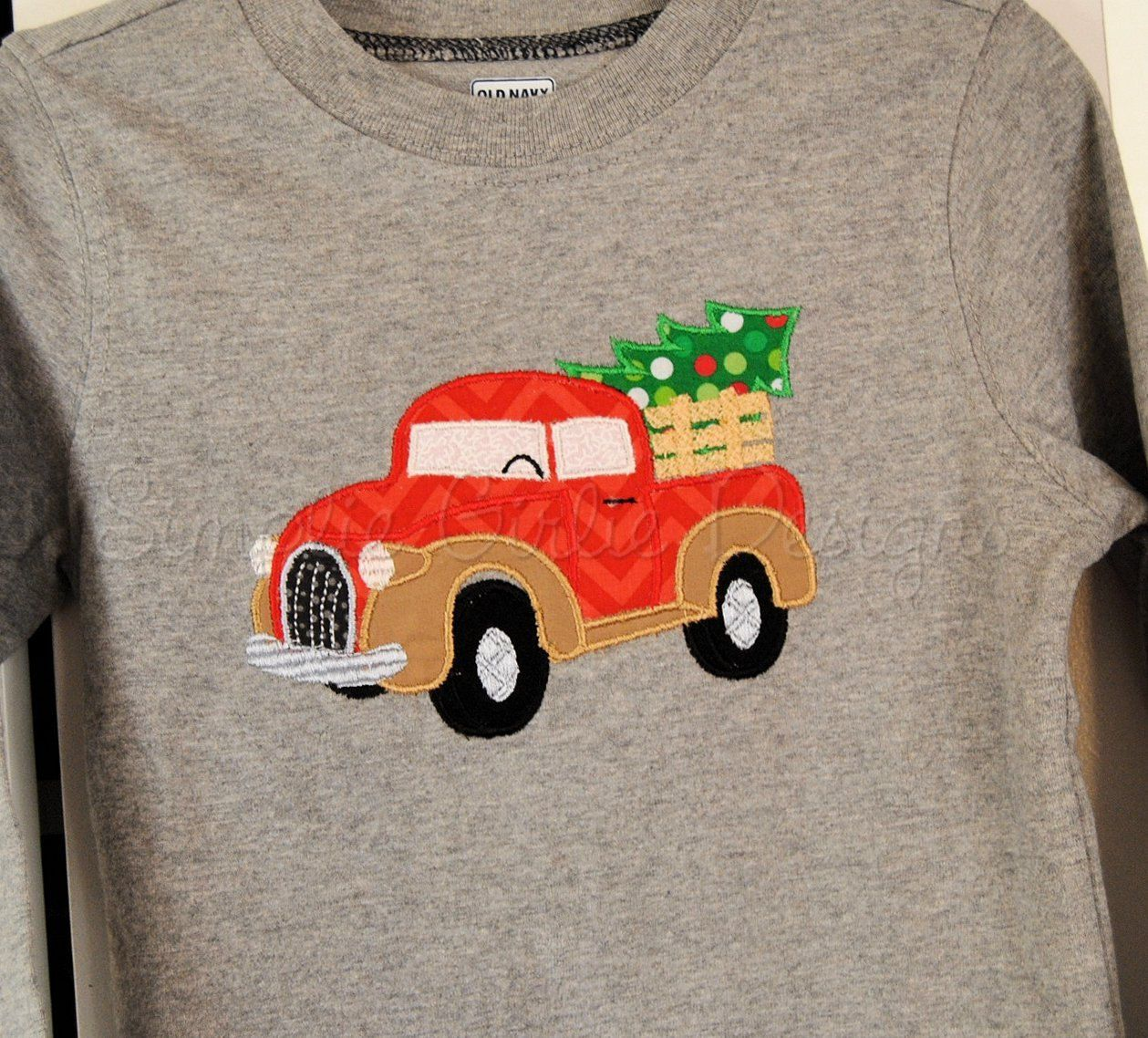 Appliqued Christmas shirt or body suit. by SimplieGirlieDesigns, $18.00