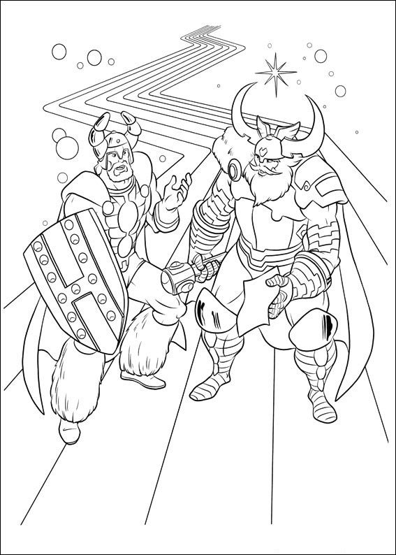 Dibujos para Colorear Thor 2