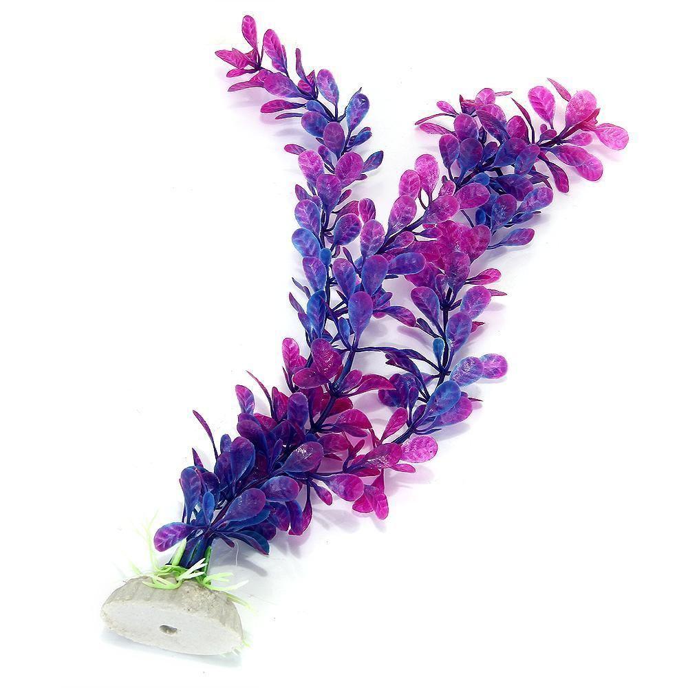 purple blue artificial water plants for fish tank aquarium