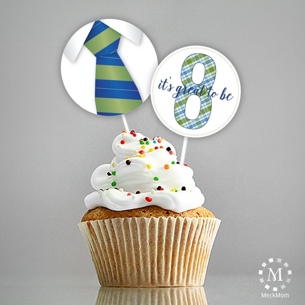 LDS Baptism Decoration Cupcake Toppers/Stickers - Green Blue ...