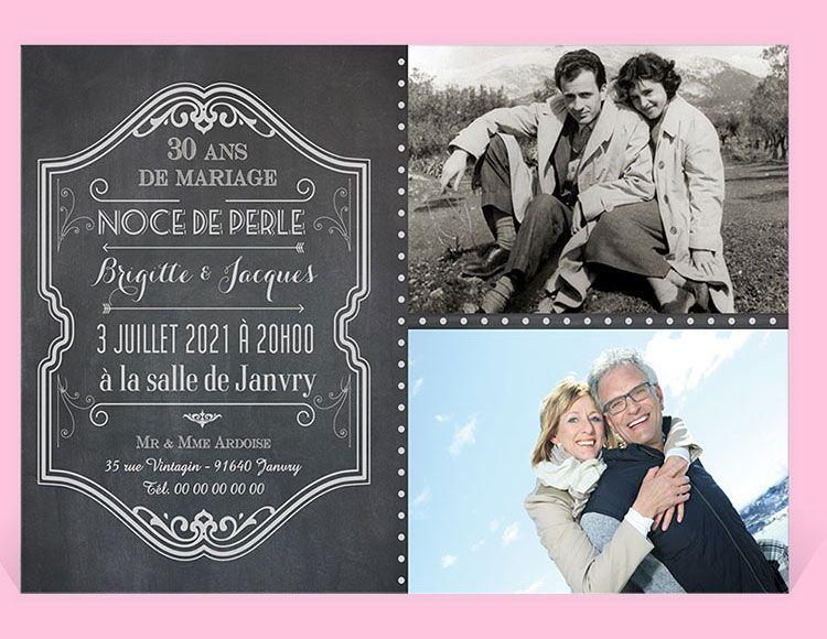 Invitation Anniversaire De Mariage Ref N14026 Monfairepart Com