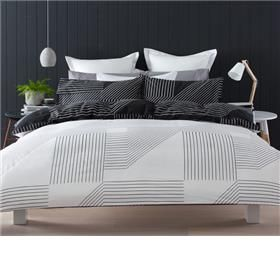 reversible linear quilt cover set queen bed