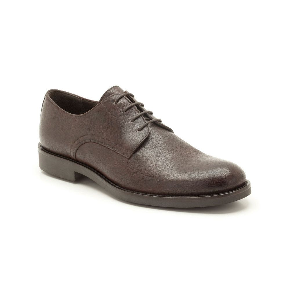 Men's everyday lace-up shoes with the brown leather of the upper has a natural depth and character and creates a classic look you can dress up or down.